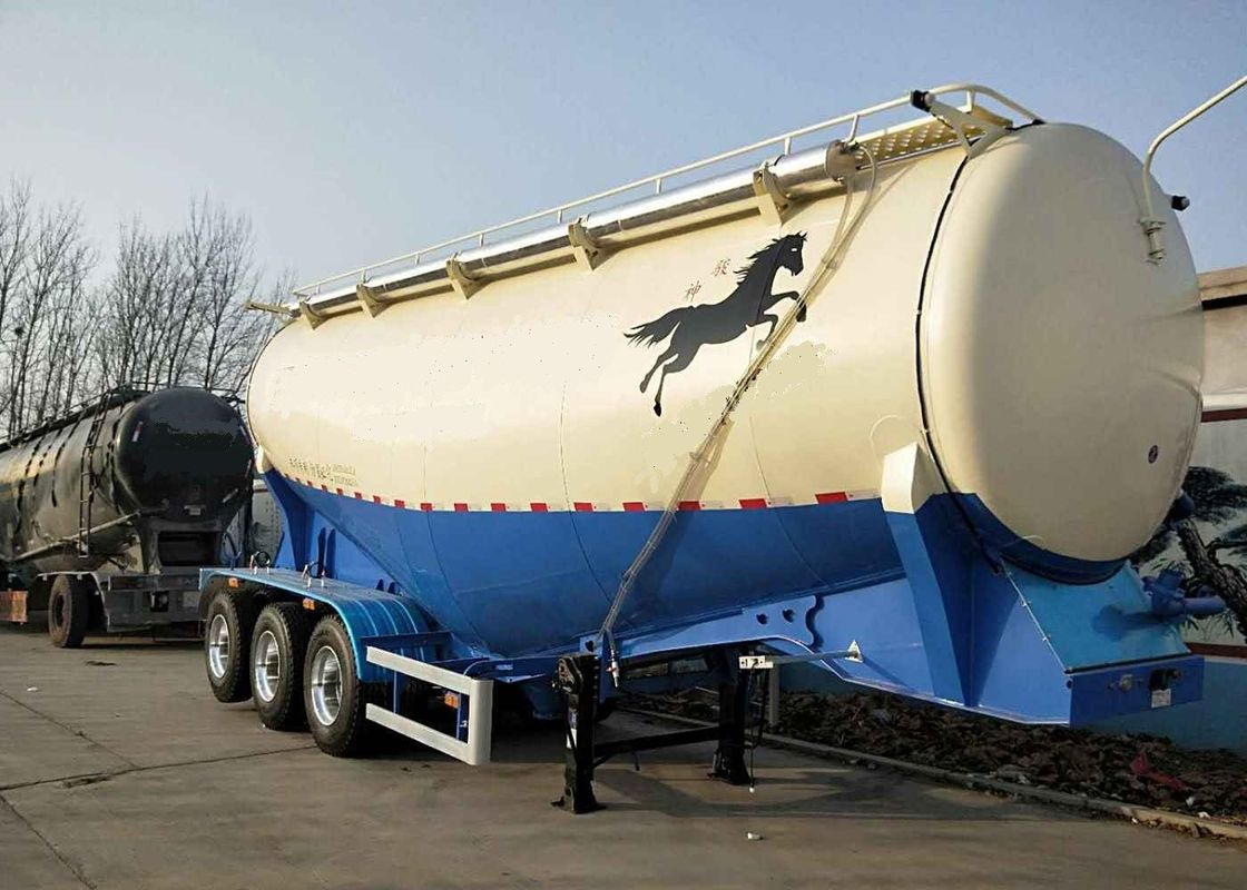 High Efficiency Bulk Cement Semi Trailer 12cbm Towing Mixer Tank Semi Mixer Trailer
